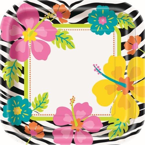 Wild Luau Dinner Plates