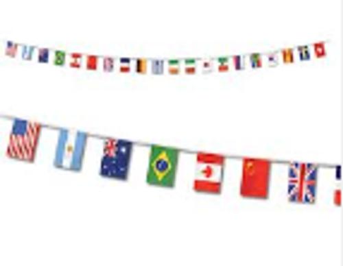 International Flag Pennant Banner
