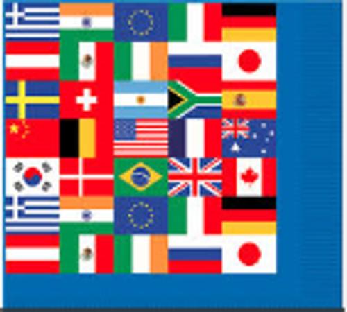 International Flag Luncheon Napkins