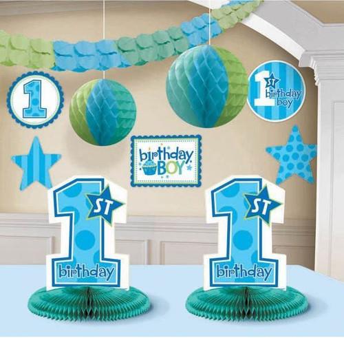 1st Birthday Boy Room Decorating Kit