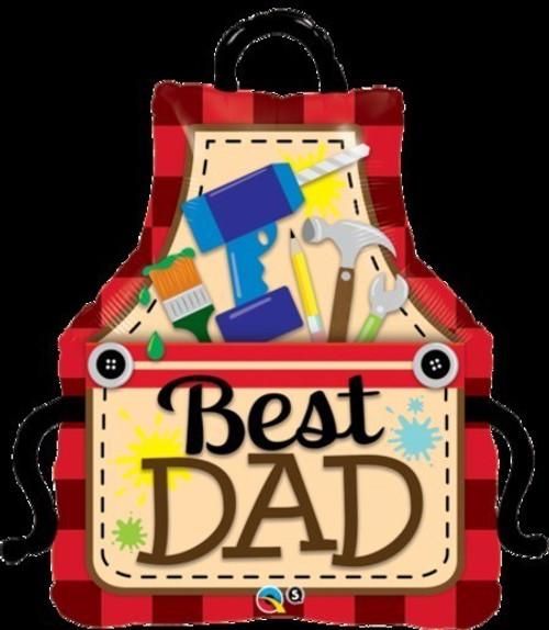 Best Dad Apron Foil Shape Balloon