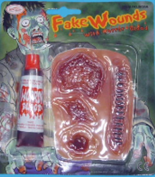 Fake Wounds with Horror Blood
