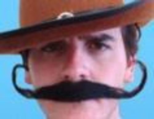 Black Outlaw Moustache