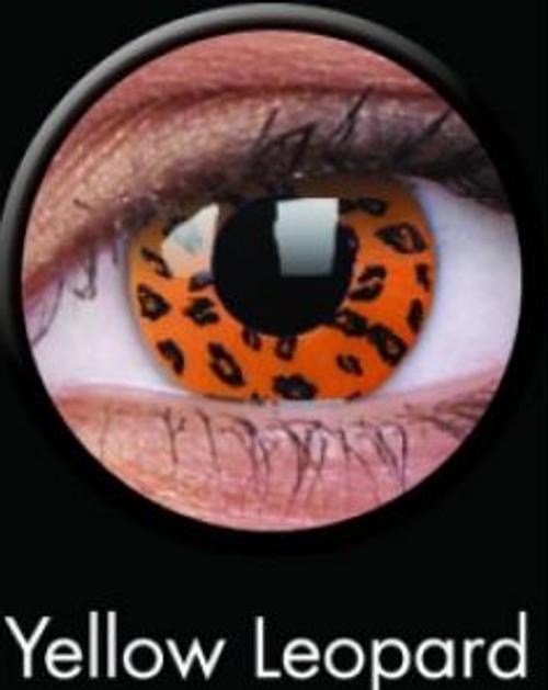 Colourvue Contact Lens Crazy Yellow Leopard
