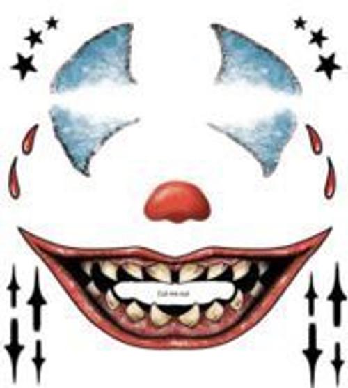 Tinsley Transfers - Tattoo FX Clown Face