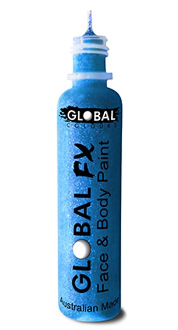 Glitter Bottle - Fluro Neon Blue