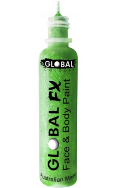 Glitter Bottle - Fluro Neon Green