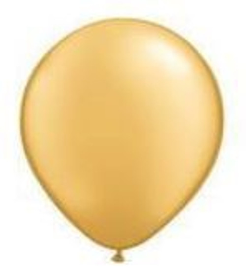 Gold 12cm Balloons - Pack of 100
