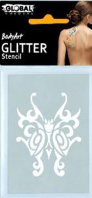 Glitter Stencil GS45 - Butterfly