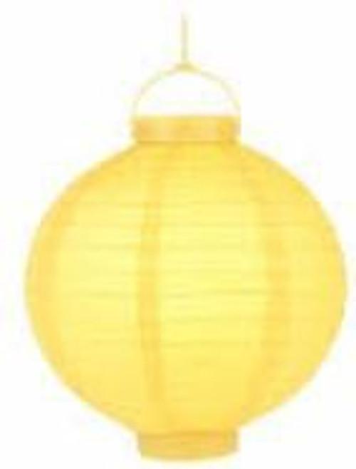 Paper Lantern with Light - Yellow