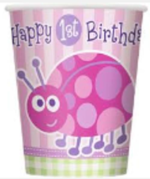 Cups - 1st Birthday Ladybug