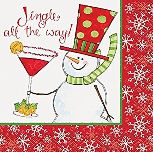 Christmas Cocktail Napkin - Jingle All the Way