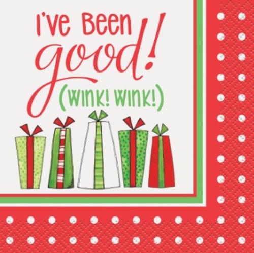 Christmas Cocktail Napkin - I've Been Good