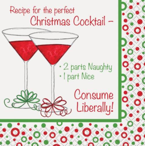 Christmas Cocktail Napkin - Christmas Cocktail