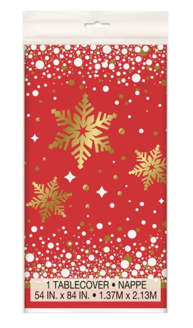Gold Sparkle Christmas Tablecover