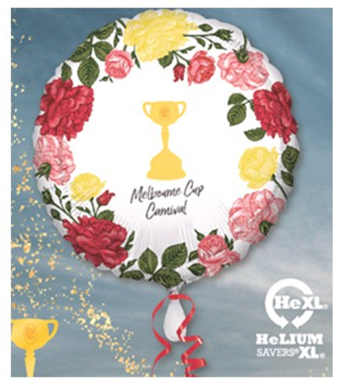 Melbourne Cup Carnival Trophy & Flowers Foil Balloon
