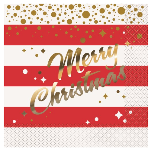 Gold Sparkle Christmas Lunch Napkins