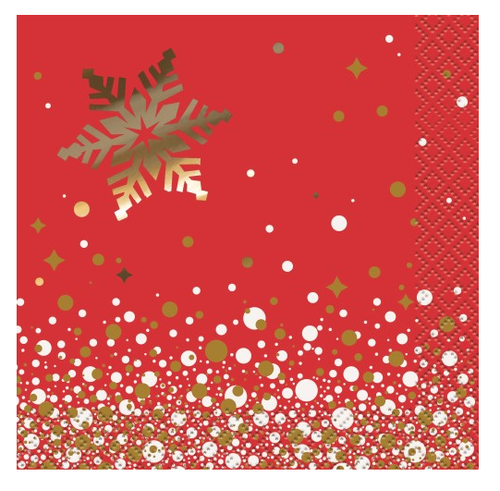 Gold Sparkle Christmas Cocktail Napkins