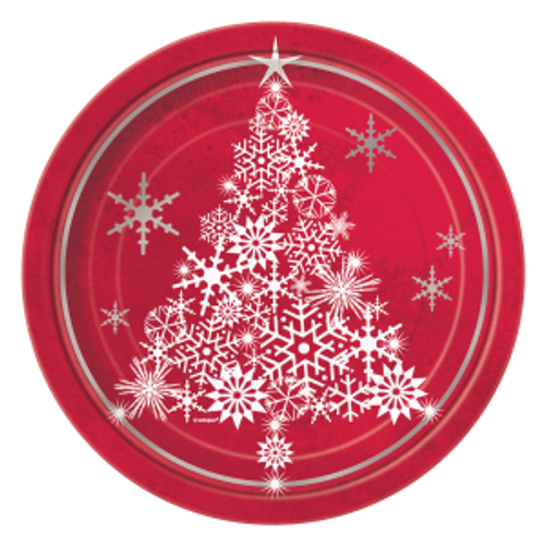 Christmas Sparkle Tree Plates