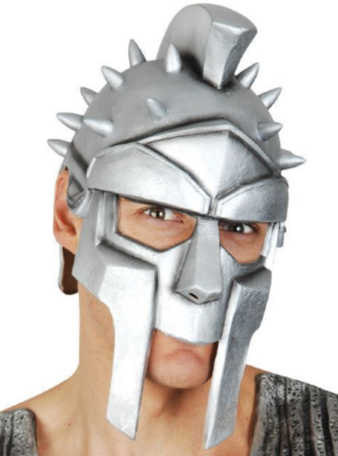 Silver Latex Warrior Mask