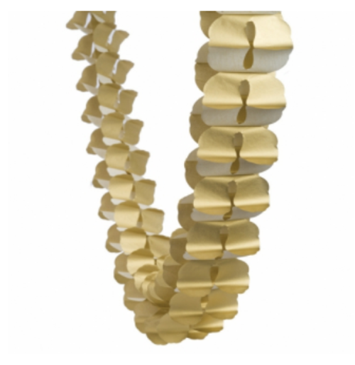 Honeycomb Garland - Metallic Gold