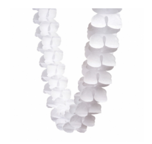 Honeycomb Garland - White