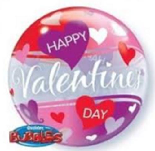 Happy Valentines Day Hearts Bubble