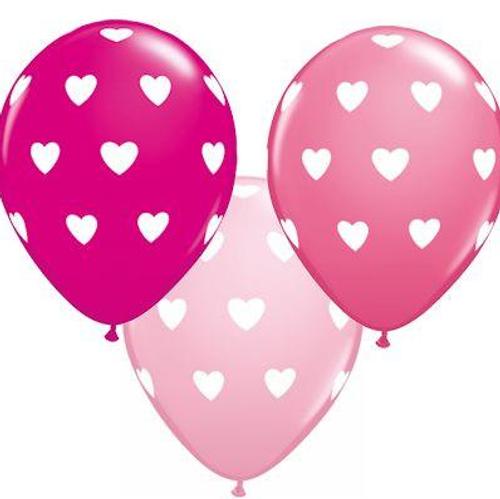 Big Hearts Mixed Pinks Latex Balloon
