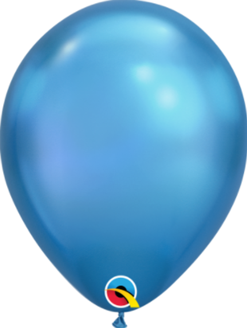 Chrome Blue 28cm Balloons - Pack of 100
