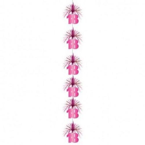18 Pink Shimmer Cascade Column