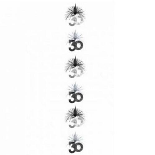 30 Black & Silver Cascade Column
