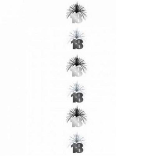 18 Black & Silver Cascade Column
