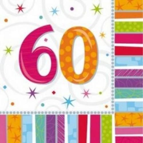 60th Radiant Birthday Luncheon Napkin