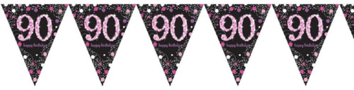 Flag Banner - Pink - 90th