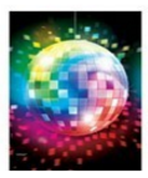 70's Disco Fever Plastic Table Cover