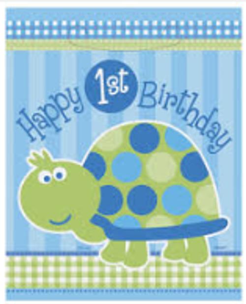 Loot Bags - 1st Birthday Turtle