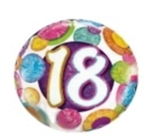 18 Big Dots And Glitz Holographic Balloon