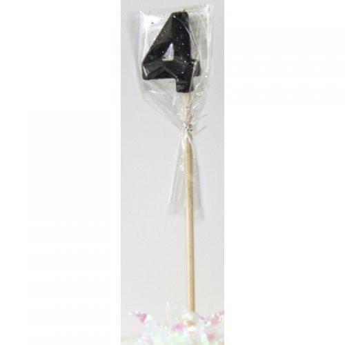 Black Glitter Long Stick Candle #4