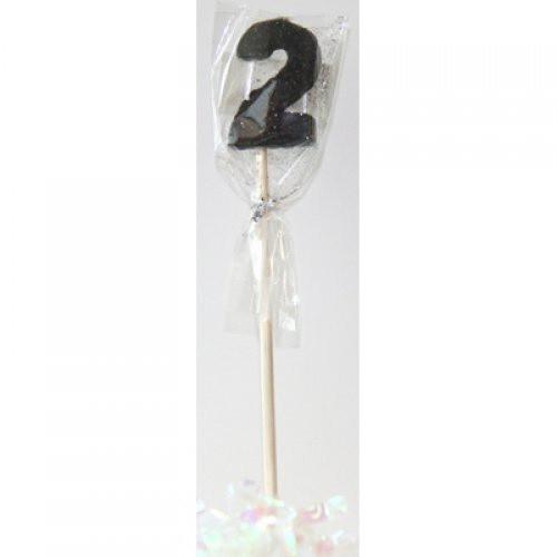 Black Glitter Long Stick Candle #2