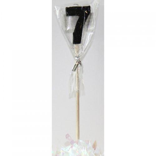Black Glitter Long Stick Candle #7