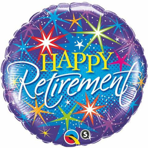Retirement Colourful Bursts Foil Balloon