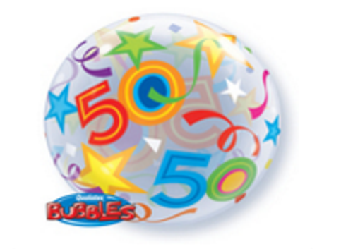 50th Birthday Brilliant Star Bubble Balloon