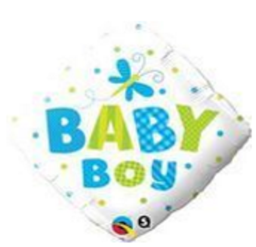 Baby Boy Dots & Dragonfly Foil Balloon