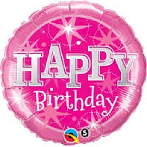 Birthday Pink Sparkle Supershape Foil Balloon