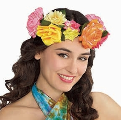 60's Hippie Flower Festival Headwreath