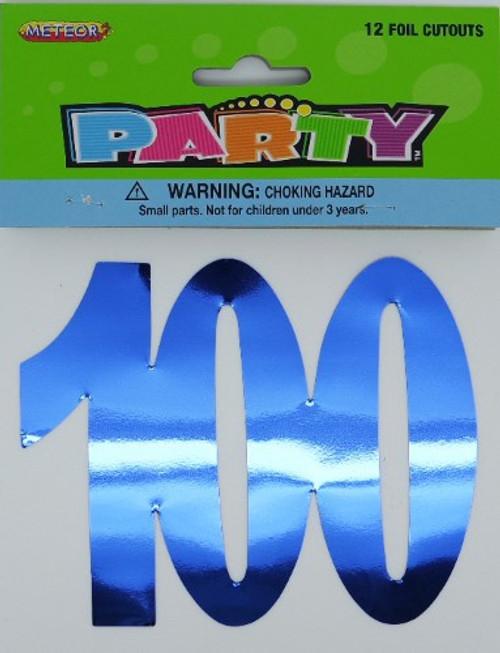 12 Foil Cutouts - 100