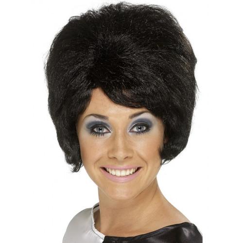 Black 60's Beehive Wig