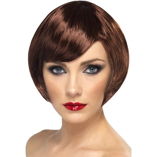 Brown Short Babe Wig