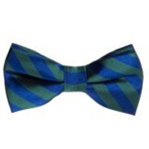 Bow Tie Striped Green & Blue