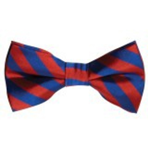 Bow Tie Striped Blue and Red